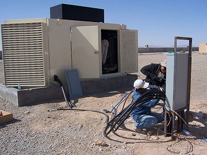 Generator Installation - French Military, Baghdad